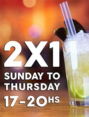 2X1offer for cocktail lovers!