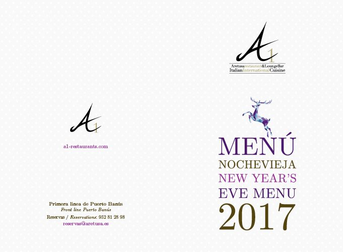 Our Special New Years' Eve Menu